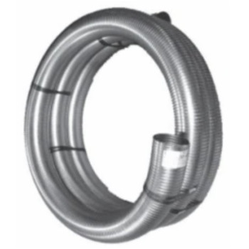 "2.5"" x 25 Foot 304 Stainless Steel Flex Exhaust Hose SF-25300"