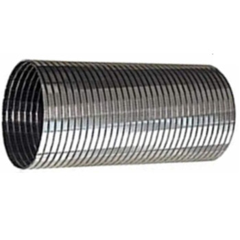 """5"""" x 24"""" .018 304 Stainless Steel Flex Exhaust Hose SF-524"""