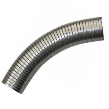 """5"""" x 48"""" .018 304 Stainless Steel Flex Exhaust Hose SF-548"""