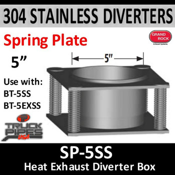 "Spring Plate 5"" Center Hole - Use for heated dump bed SP-5"