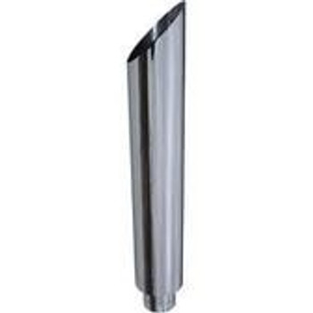 "8"" x 48"" Miter Cut Chrome Monster Stack Reduced to 5"" OD"