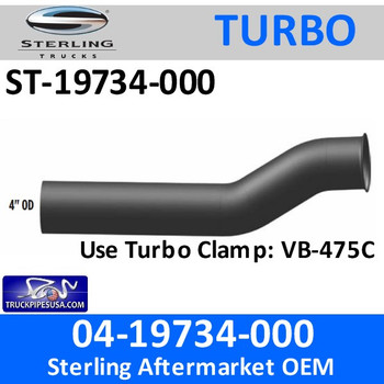 ST-19734-000 04-19734-000 Sterling Exhaust Turbo Pipe ST-19734-000