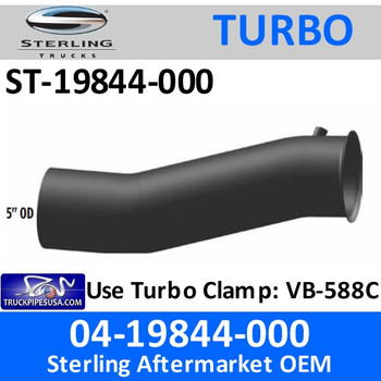 04-19844-000 Sterling Exhaust Turbo Pipe ST-19844-000