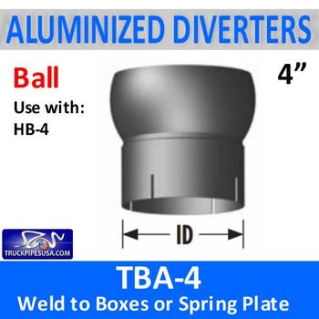 "TBA-4 4"" Tilt Ball Aluminized Heat Diverter Box Connector TBA-4"