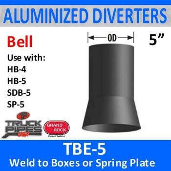 "5"" Tilt Bell Aluminized Heat Diverter Box Connector TBE-5"