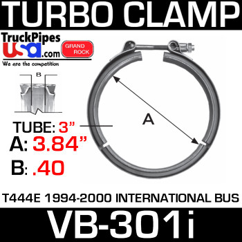 "3.84"" V-Band Turbo Clamp International use w/T375-6ID VB-301i"