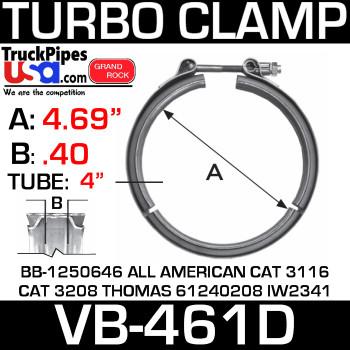 VB-461D - V-Band Turbo Clamp VT10413 VT10469 VT10470