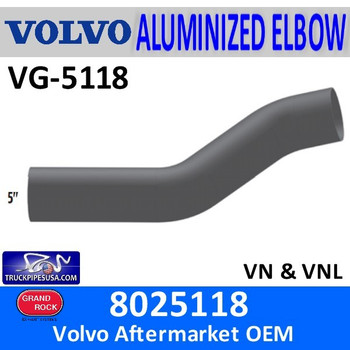 8025118 Volvo Connection Elbow Exhaust Pipe VG-5118