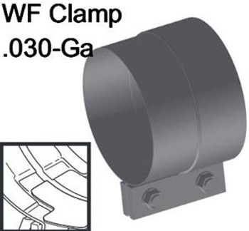 "WFC-5A 5"" Westfalia Aluminized Exhaust Band Clamp WFC-5A"