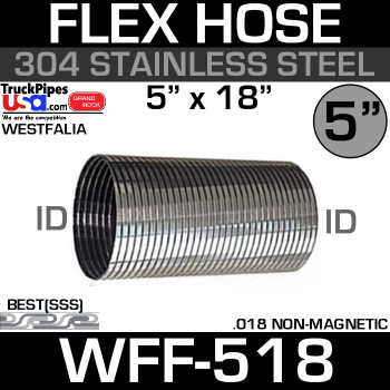"04-19105-018 Westfalia 304 Stainless Steel Flex 5"" x 18"" WFF-518"