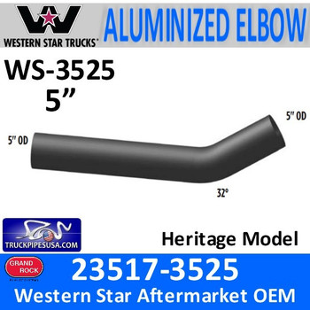 Western Star 32 Degree Elbow Exhaust Pipe 23517-3525