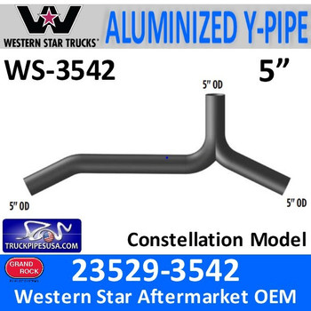 Western Star 23529-3542 Y-Pipe Exhaust