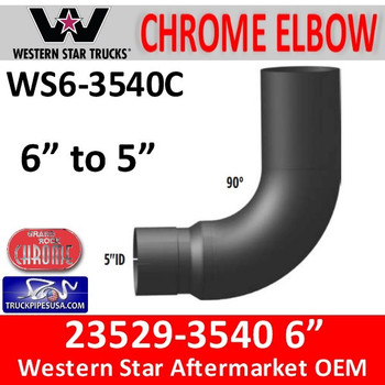 "23529-3540C Western Star 6"" 90 Elbow Reduced to 5"" WS6-3540C"