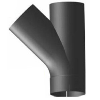 """4"""" Type C Y-Pipe Aluminized Exhaust Pipe 9.46"""" x 12"""" YC-400A"""