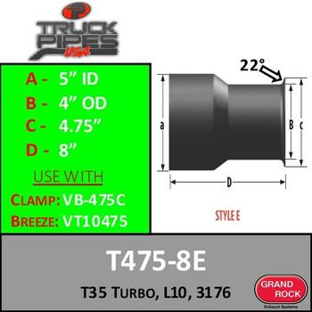 T475-8E Turbo T35 Turbo, L10, 3176 Style E