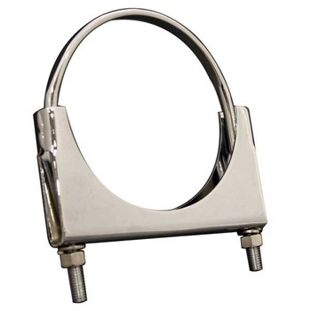 """4"""" Flat Bolt Exhaust Clamp 304 Stainless Steel"""