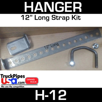 "12"" Long Muffler Exhaust Hanger Strap Kit H-12"