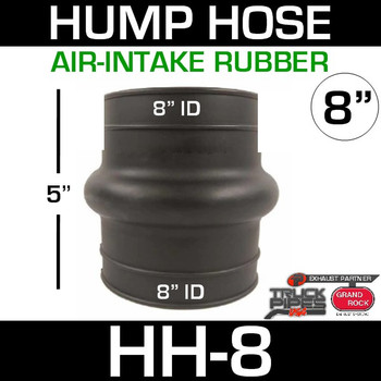 """8"""" Air Intake Rubber Exhaust Hump Hose HH-8"""