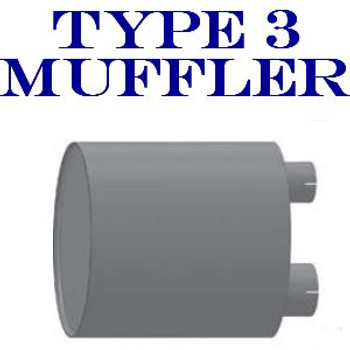 "M-033 M-033 Type 3 Universal Truck Muffler 11"" x 30"" Long 4""IN - 5"" OUT"