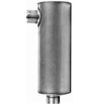 "M-527C1 Type 6 Muffler 8.25 "" x 11.5"" x 32.5 - 3.5"" IN 4"" OD OUT"