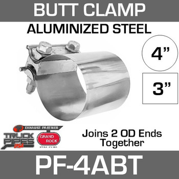"4"" Preformed Aluminized Butt Joint Exhaust Clamp PF-4ABT"