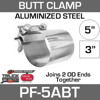 "5"" Preformed Aluminized Butt Joint Exhaust Clamp PF-5ABT"