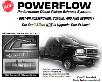 "PS-99-A4 Ford Powerflow for 1999-2002 7.3L 4"" Aluminized Kit"
