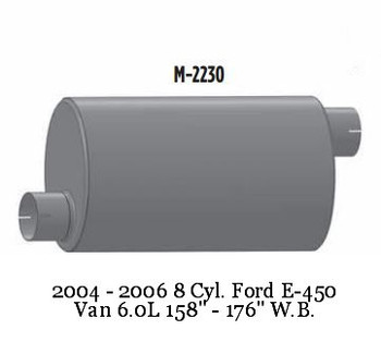 M-2230 Ford Muffler For E-450 Bus or Van M-2230