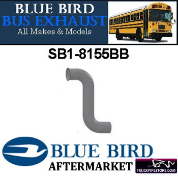"SB1-8155BB 4"" 2 Bend Bluebird Bus Exhaust OD with Flare ALZ"