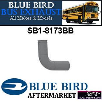 "SB1-8173BB SB1-8173BB Bluebird Bus Exhaust Elbow 3"" 90 Degree OD Flare Aluminized"