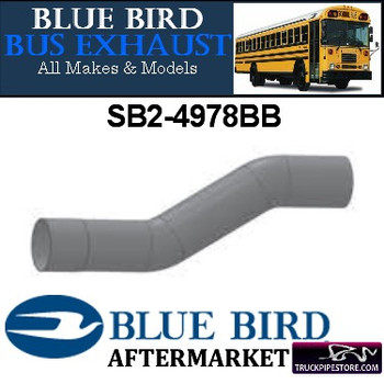 "SB2-4978BB 5"" 2 Bend Bluebird Bus Exhaust ID-OD ALZ"