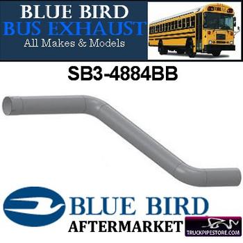 "SB3-4884BB 4"" 2 Bend Bluebird Bus Exhaust ID-OD ALZ"