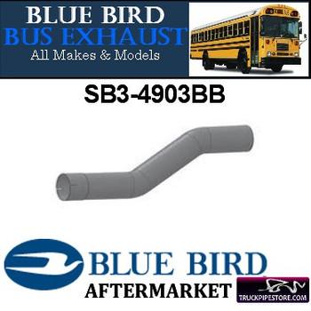 "SB3-4903BB 4"" 2 Bend Bluebird Bus Exhaust ID-OD ALZ"