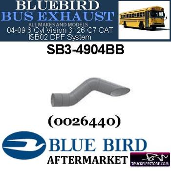 "SB3-4904BB 4"" 2 Bend Bluebird Bus Exhaust ID Miter Aluminized"