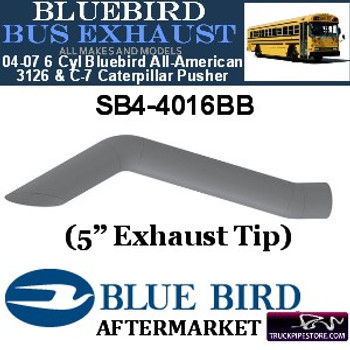 "SB4-4016BB 5"" 2 Bend Bluebird Bus Exhaust OD Miter ALZ"