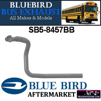 "SB5-8457BB 2.5"" 5 Bend Bluebird Bus Pipe OD Flared Shield ALZ"