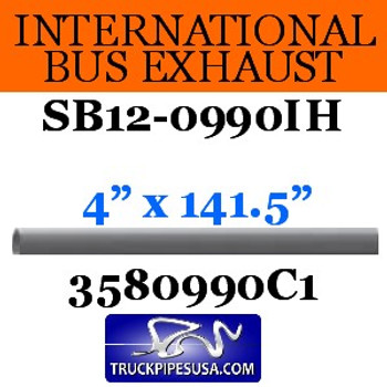 "3580990C1 International Bus Long Pipe 4"" x 141.5"" OD-OD"