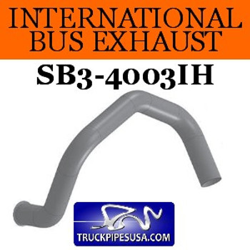 "SB3-4003IH International Bus 23 Degree Elbow 3.5"" OD-ID ALZ"