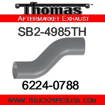 "4"" Thomas Bus Exhaust 2 Bend Pipe OD-OD ALZ"