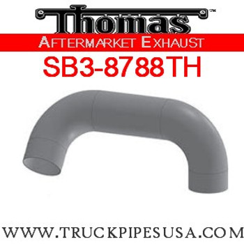 "6224-0610 4"" Thomas Bus Exhaust 2 Bend Pipe OD-OD ALZ"