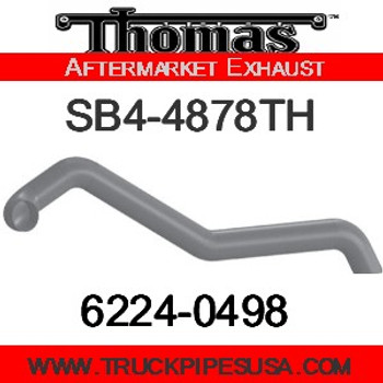 "6224-0498 4"" Thomas Bus Exhaust 3 Bend Pipe ID-OD ALZ"