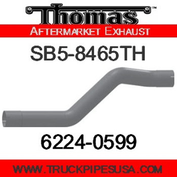 "SB5-8465TH 4"" Thomas Bus Exhaust 3 Bend Pipe ID-ID ALZ"