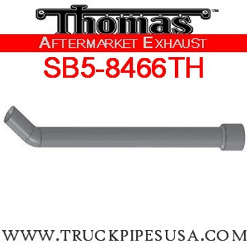"SB5-8466TH 6224-0938 3"" Thomas Bus 35 Degree Elbow OD 4""OD ALZ"