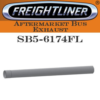 "SB5-6174FL 4"" x 50"" Freightliner Bus Straight Stack Pipe ID-OD ALZ"