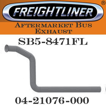 "04-21076-000  3"" Freightliner Bus Exhaust 3 Bend OD/FLARE ALZ"