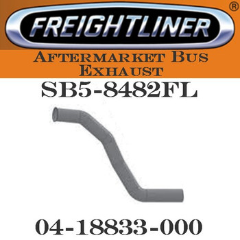 "04-18833-000  4"" Freightliner Bus Exhaust 4 Bend FLARE, OD-OD"