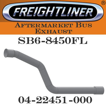 "04-22451-000  3.5"" Freightliner Bus Exhaust 3 Bend 4""OD/4""FLARE ALZ"