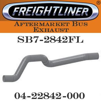 "SB7-2842FL 4"" Freightliner Bus Exhaust 6 Bend OD-OD ALZ"