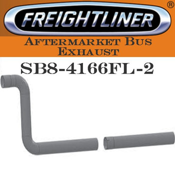 "SB8-4166FL-2 4"" Freightliner Bus Exhaust 2 Bend ID-OD End ALZ"