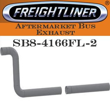 "SB8-4166FL-2 4"" Freightliner Bus Exhaust 2 Bend ID-OD End ALZ"